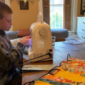 Student Sews Masks for Kids