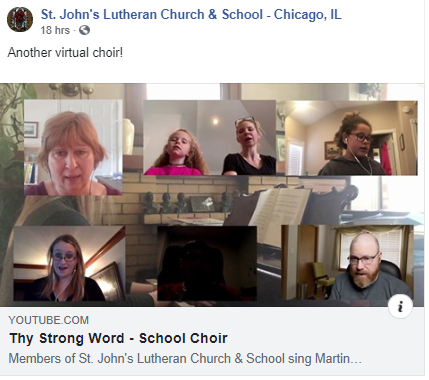 St. John's Students Sing in Virtual Choir